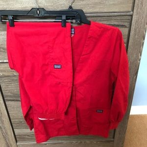 Cherokee long sleeve jacket & elastic pants SMALL